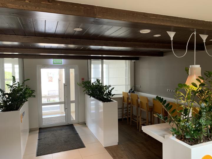 Пример мебели MebelExpert изготовленной для учебного центра (оранжевая) фото №4